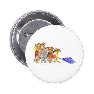 Firetruck Critters Pinback Buttons