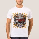 Firetruck Firefighter Maltese Cross mens t-shirt
