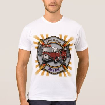 artmuvz Firetruck Firefighter Maltese Cross mens t-shirt
