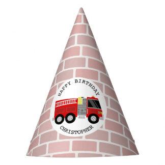 Firetruck + Gorra de la fiesta de cumpleaños de Gorro De Fiesta