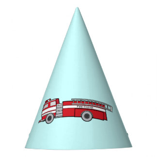 Firetruck Happy Birthday Party Hat