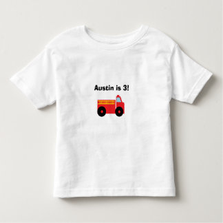 """Firetruck"" Personalized Toddler T-Shirt"