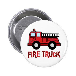 Firetruck Pinback Buttons