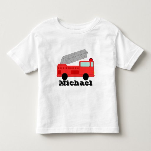 Firetruck t shirt personalizable template zazzle for Zazzle t shirt template