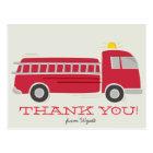 Firetruck Thank You Postcard