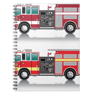 Firetruck Vector Notebook
