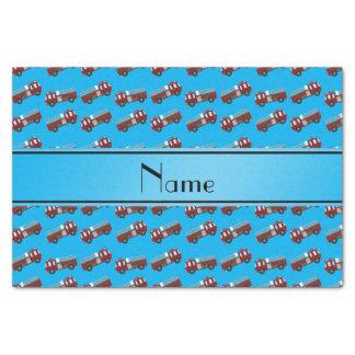 Firetrucks conocidos personalizados del azul de papel de seda pequeño
