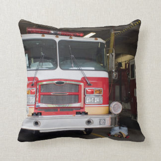 Firetrucks Parked at the Station Throw Pillow