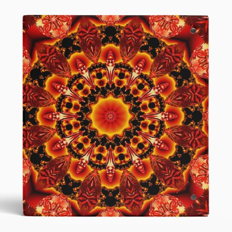 Firewalk, Abstract Spiritual Quest in Flames 3 Ring Binder