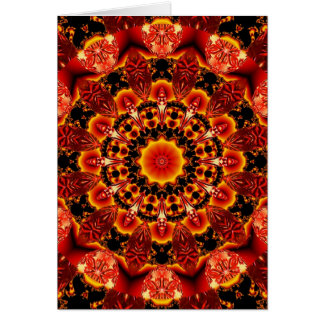 Firewalk, Abstract Spiritual Quest in Flames Card