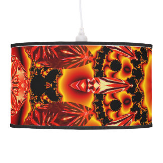 Firewalk, Abstract Spiritual Quest in Flames Ceiling Lamp