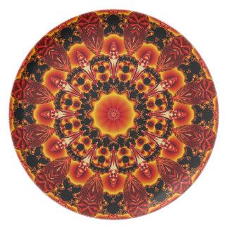 Firewalk, Abstract Spiritual Quest in Flames Dinner Plate