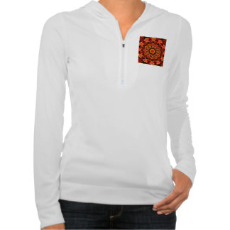 Firewalk, Abstract Spiritual Quest in Flames Hooded Pullover