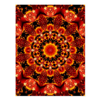 Firewalk, Abstract Spiritual Quest in Flames Postcard