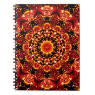 Firewalk, Abstract Spiritual Quest in Flames Spiral Notebook