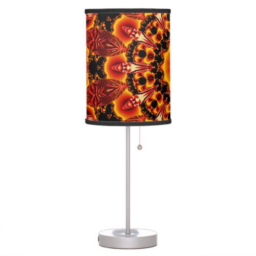 Firewalk, Abstract Spiritual Quest in Flames Table Lamp