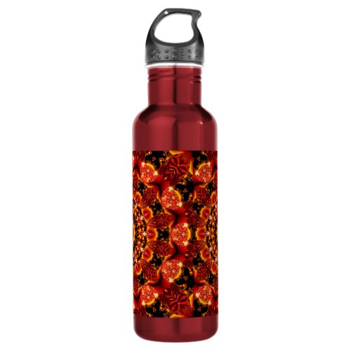 Firewalk, Abstract Spiritual Quest in Flames Water Bottle