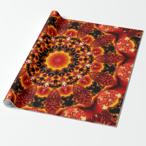Firewalk, Abstract Spiritual Quest in Flames Wrapping Paper