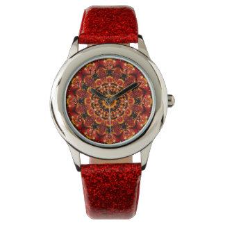Firewalk, Abstract Spiritual Quest in Flames Wrist Watch