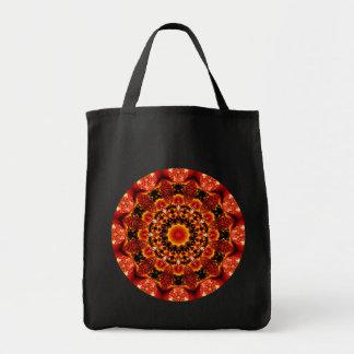 Firewalk Mandala, Abstract Spiritual Quest Grocery Tote Bag