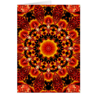 Firewalk Mandala, Abstract Spiritual Quest Card