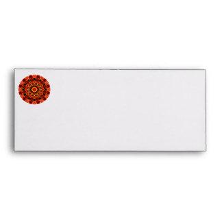 Firewalk Mandala, Abstract Spiritual Quest Envelopes