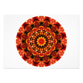 Firewalk Mandala, Abstract Spiritual Quest Personalized Announcement
