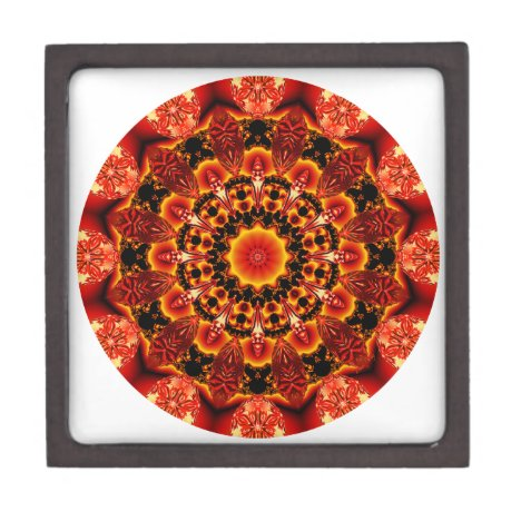 Firewalk Mandala, Abstract Spiritual Quest Jewelry Box