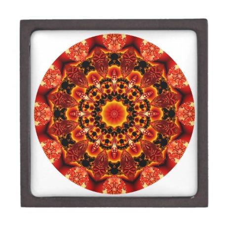 Firewalk Mandala, Abstract Spiritual Quest Jewelry Box