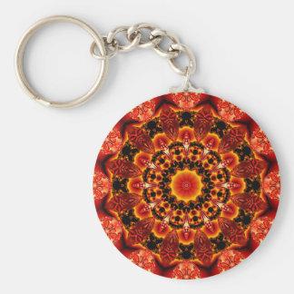 Firewalk Mandala, Abstract Spiritual Quest Keychain