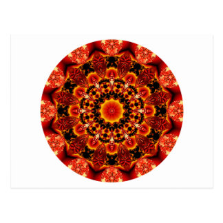 Firewalk Mandala, Abstract Spiritual Quest Postcard