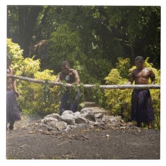 Firewalkers, centro cultural polinesio, Viti Azulejo Cuadrado Grande