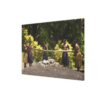 Firewalkers, centro cultural polinesio, Viti Impresión En Lona Estirada
