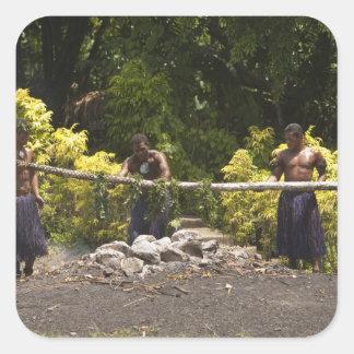 Firewalkers, centro cultural polinesio, Viti Pegatina Cuadrada