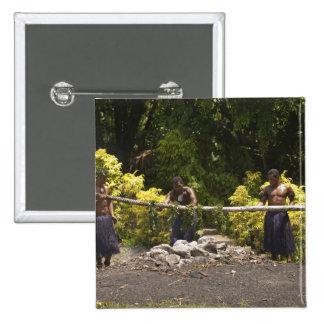 Firewalkers, centro cultural polinesio, Viti Pin Cuadrada 5 Cm