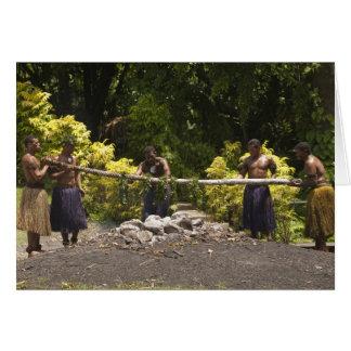 Firewalkers, centro cultural polinesio, Viti Tarjeta De Felicitación