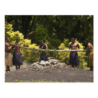 Firewalkers, Polynesian Cultural Center, Viti Postcard