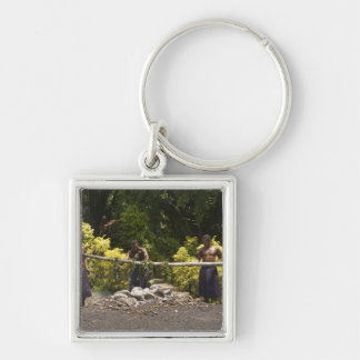 Firewalkers, Polynesian Cultural Center, Viti Silver-Colored Square Keychain