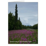 Fireweed along the Parks Highway, Alaska Stationery Note Card