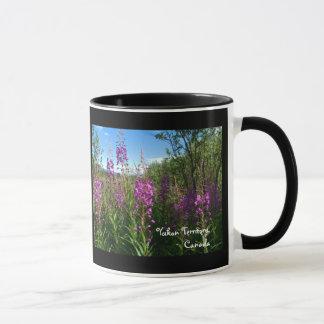 Fireweed and Blue Sky; Yukon Territory, Canada Mug