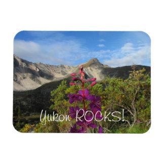 Fireweed en las montañas de Pelly; Recuerdo del Yu Iman Rectangular