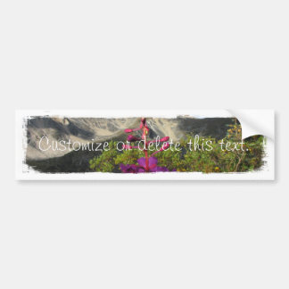 Fireweed in the Pelly Mountains; Customizable Car Bumper Sticker