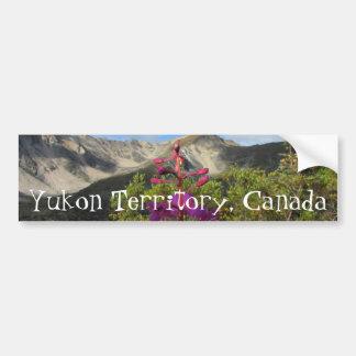 Fireweed in the Pelly Mountains; Yukon Souvenir Car Bumper Sticker