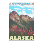 Fireweed & Mountains - Anchorage, Alaska Canvas Print