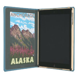 Fireweed & Mountains - Anchorage, Alaska Cover For iPad Air