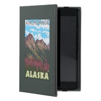 Fireweed & Mountains - Anchorage, Alaska Case For iPad Mini