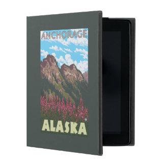 Fireweed & Mountains - Anchorage, Alaska iPad Folio Case