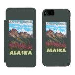 Fireweed & Mountains - Anchorage, Alaska Incipio Watson™ iPhone 5 Wallet Case
