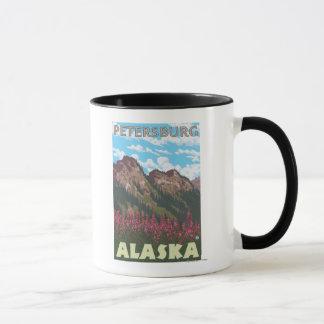 Fireweed & Mountains - Petersburg, Alaska Mug