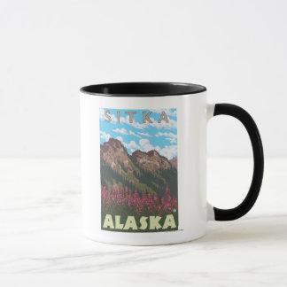 Fireweed & Mountains - Sitka, Alaska Mug